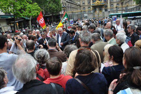 G. FILOCHE A MIGENNES  LE 12 10 2010 SALLE JACQUES BREL DÉBAT SUR LES RETRAITES