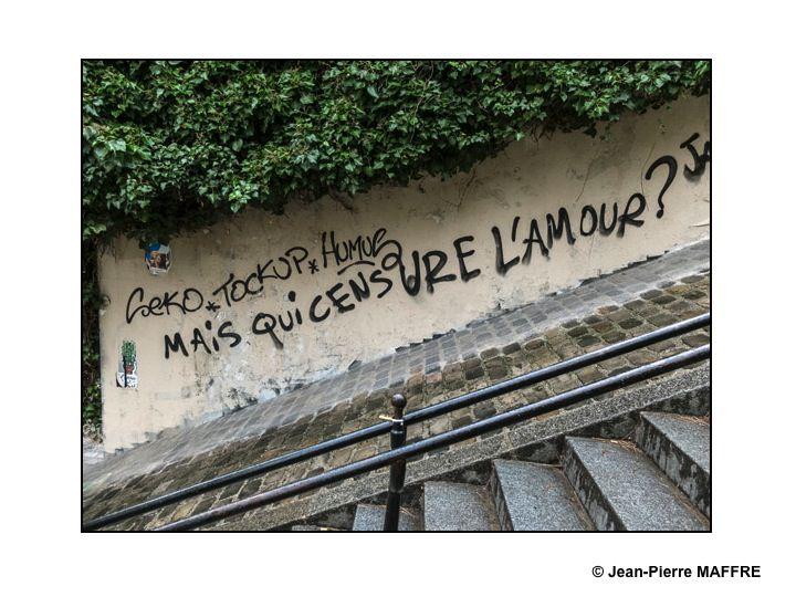 Difficile de trouver de l'amour dans les tags qui souvent enlaidissent nos villes. Au bout de plusieurs années, on y arrive.