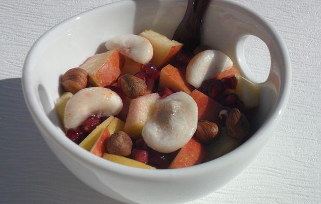 Salade de fruit hivernale (mangoustan/noisette)