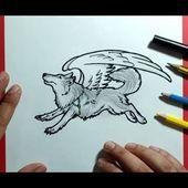 Como dibujar un lobo paso a paso 7   How to draw a wolf 7