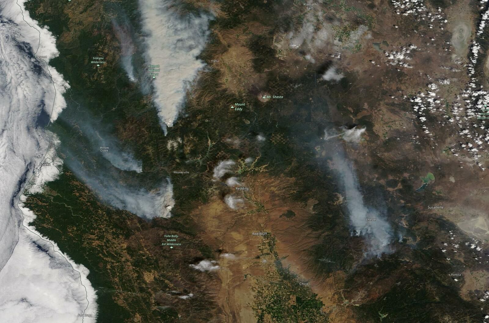 Dixie Fire - California wild fire - Terra MODIS - Incendies - Earth Observation - Observation de la Terre - Satellite - Pyrocumulus