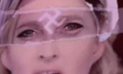 Madonna annonce qu'elle continuera à diffuser l'image de Marine Le Pen avec une croix gammée