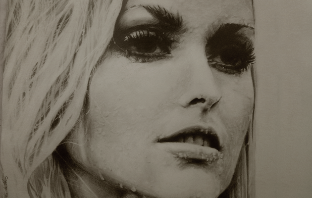 Sharon Tate, dessin au crayon, drawing pencil