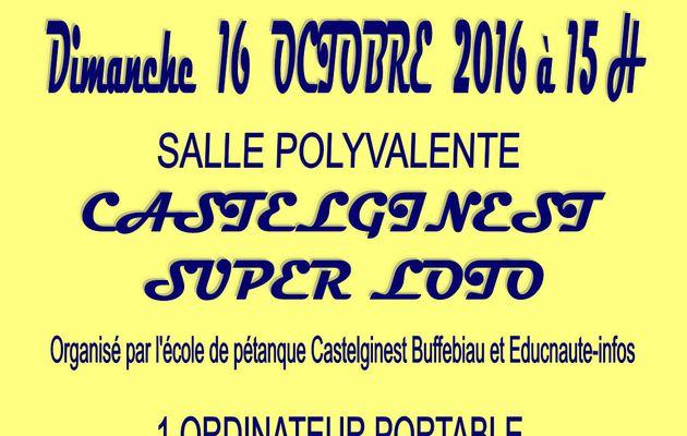 EDUCNAUTE-INFOS organise son premier LOTO avec l'école de pétanque de Buffebiau