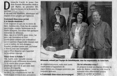 Revue de presse - Midi-Libre du 08/04/12