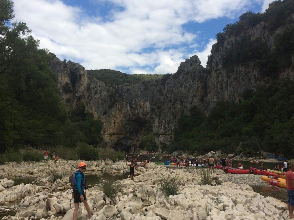 Les Gorges de l'Ardèche en canoë - 11/08/2017