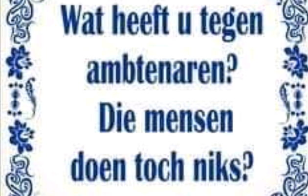 L'instant néerlandais du jour (2020_05_26): de ambtenaar