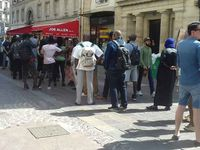 Queue for booksigning of Kemi Seba on Saturday 30th June in Paris