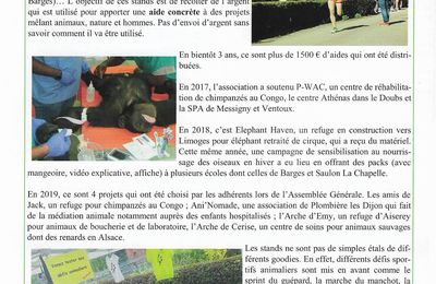 Article bulletin municipal de Barges 2020