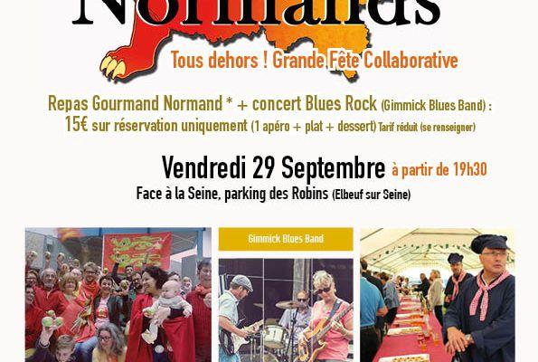 Oyez, Oyez, derniers jours avant clôture des inscriptions :Fête des Normands : dîner normand + concert Rock Blues