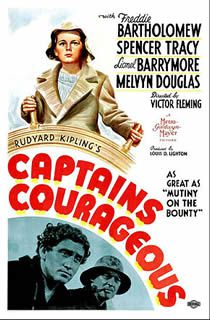 Capitaines courageux de Victor Fleming avec Spencer tracy, Freddie Bartholomew, Lionel Barrymore, Mickey Rooney, Melvyn Douglas