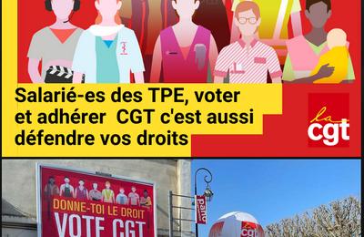 TPE : votez CGT
