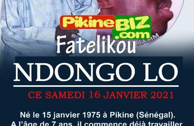 HOMMAGE A NDONGO LO PIKINE // MAY HE RIP // YALLA NAKO YEUREUME//  MAY GOD BLESS HIS SOUL //  FATELIKOU NDONGO LO PIKINE SUR LES ONDES DE PIKINEBIZ RADIO VOTRE WEB COMMUNITY RADIO INTERNATIONAL STREAMING LIVE..... CLIQUER LE LIEN POUR ECOUTER RAPIDE  // LINKUP AK WA PIKINE //