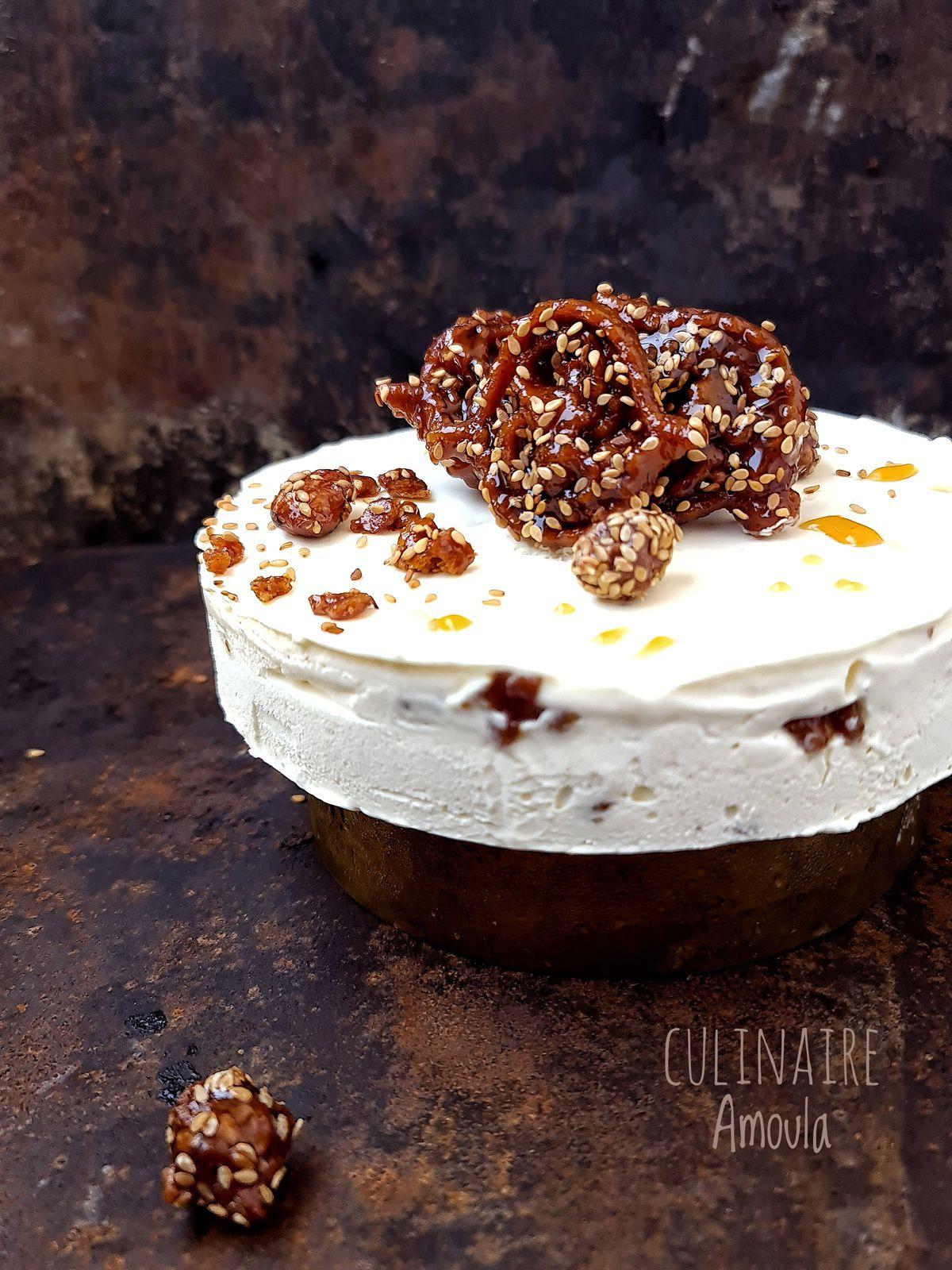 Gâteaux glacé aux éclats de Chebakia