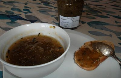 Confiture courgette figue gingembre
