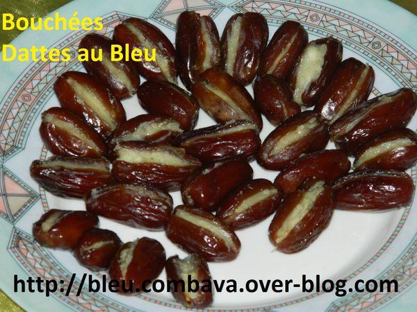 Bouchées Apéritives de Dattes farcies au Bleu