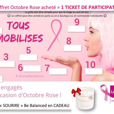 Mobilisation spéciale OCTOBRE ROSE : 15-19 oct. 2020