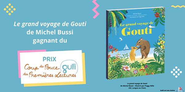 Lauréat Prix Coup de Pouce voyage gulli michel bussi