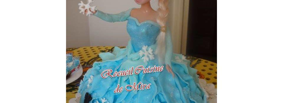 """Gâteau d'anniversaire Elsa """"reine des neiges"""""""