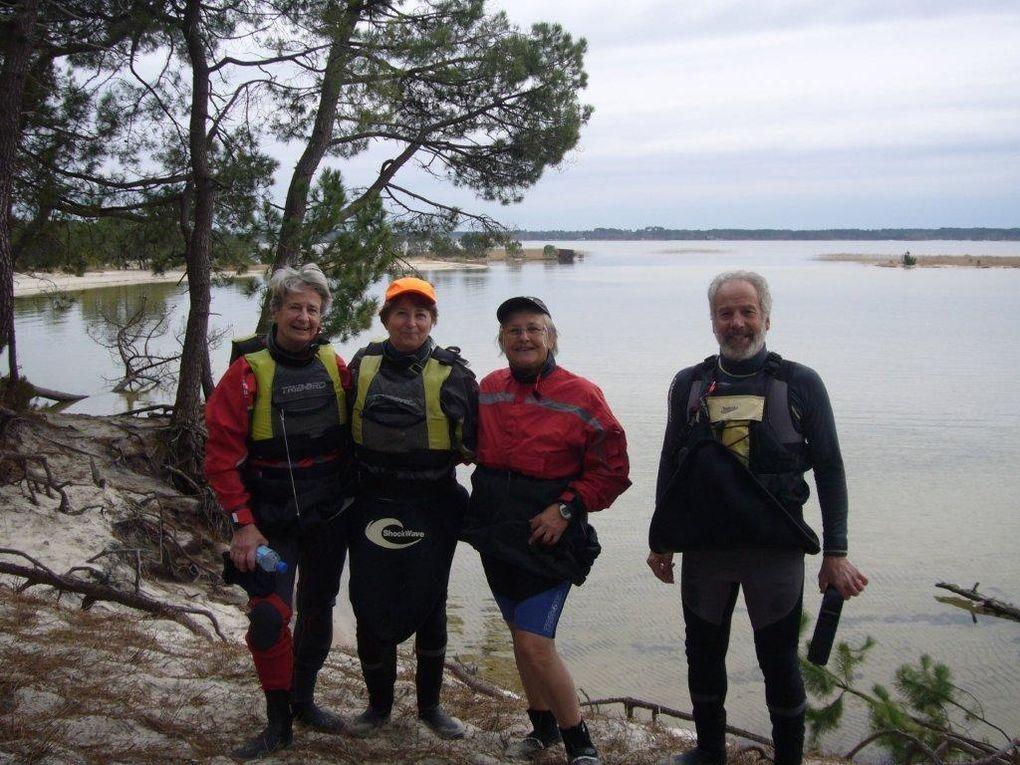 """Sortie kayak du lundi 8 février 2010. Navigation vers """"Bora Bora et visite de La Gourgue"""" Première sortie de Nicole."""