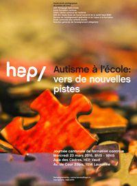 L'autisme à l'école - 23 mars 2016 - Lausanne