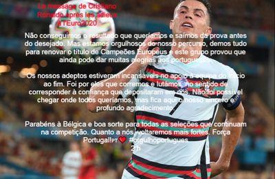 Le message de Cristiano Ronaldo après les adieux à l'Euro2020