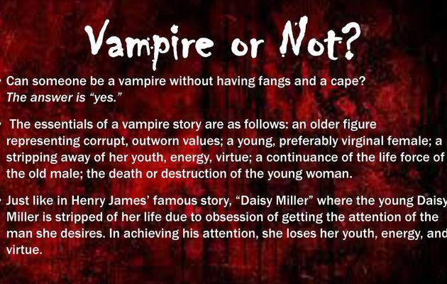 What Are The Essentials Of The Vampire Storyl