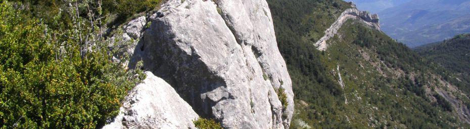 BARRE des DOURBES - extrémité Sud - crêtes et paysages du Pays Dignois