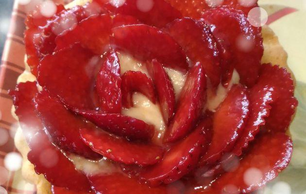Tarte Fleur de fraises