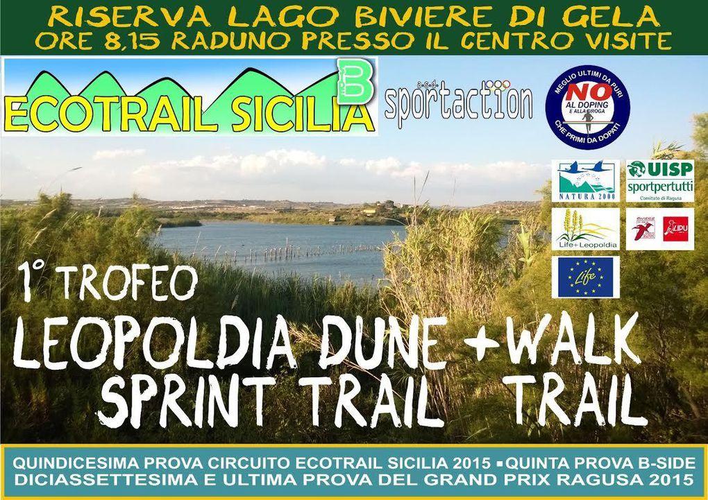 Leopoldia Dune Sprint Trail  2015 (1^ ed.). Sport e Natura saranno i protagonisti di questa prima edizione, tesa a salvaguardare l'habitat naturale di una rara specie botanica