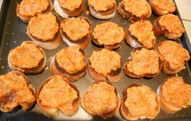 Bruschettas aux poivrons grillés