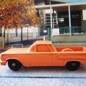 CHEVROLET EL CAMINO TOMTE LAERDAL MINIATURE EN PLASTIQUE MOU ORANGE NORWAY - car-collector.net