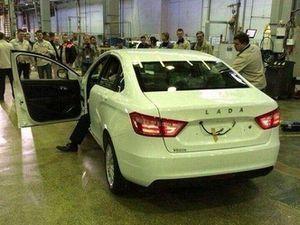 Lada Vesta, la production a bien débuté!