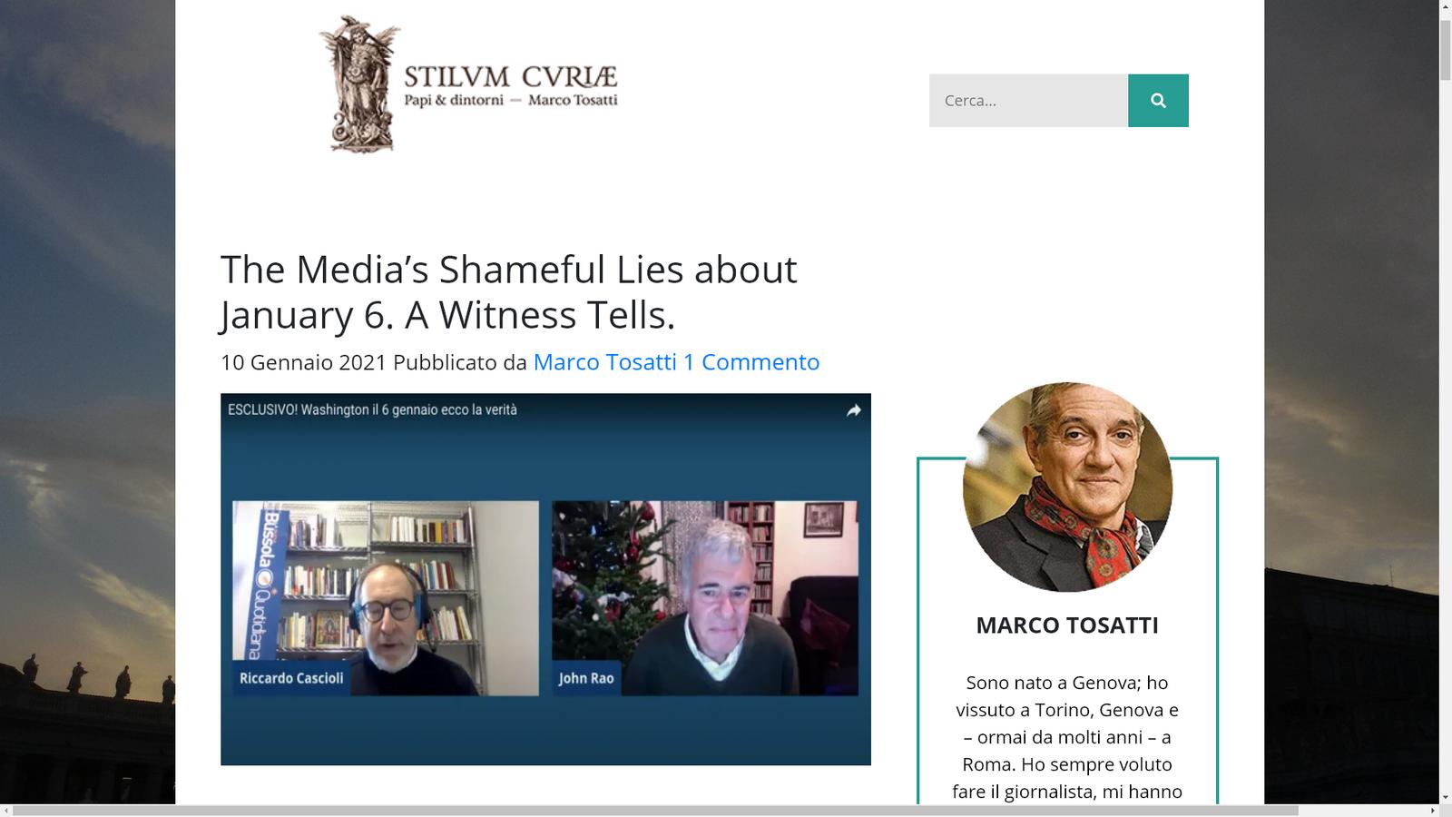 Les mensonges honteux des médias sur le 6 janvier. Un témoin raconte.