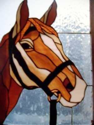 stained glass animal