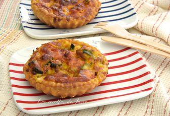tartelettes feuilletée courgettes, tomates et mozzarella
