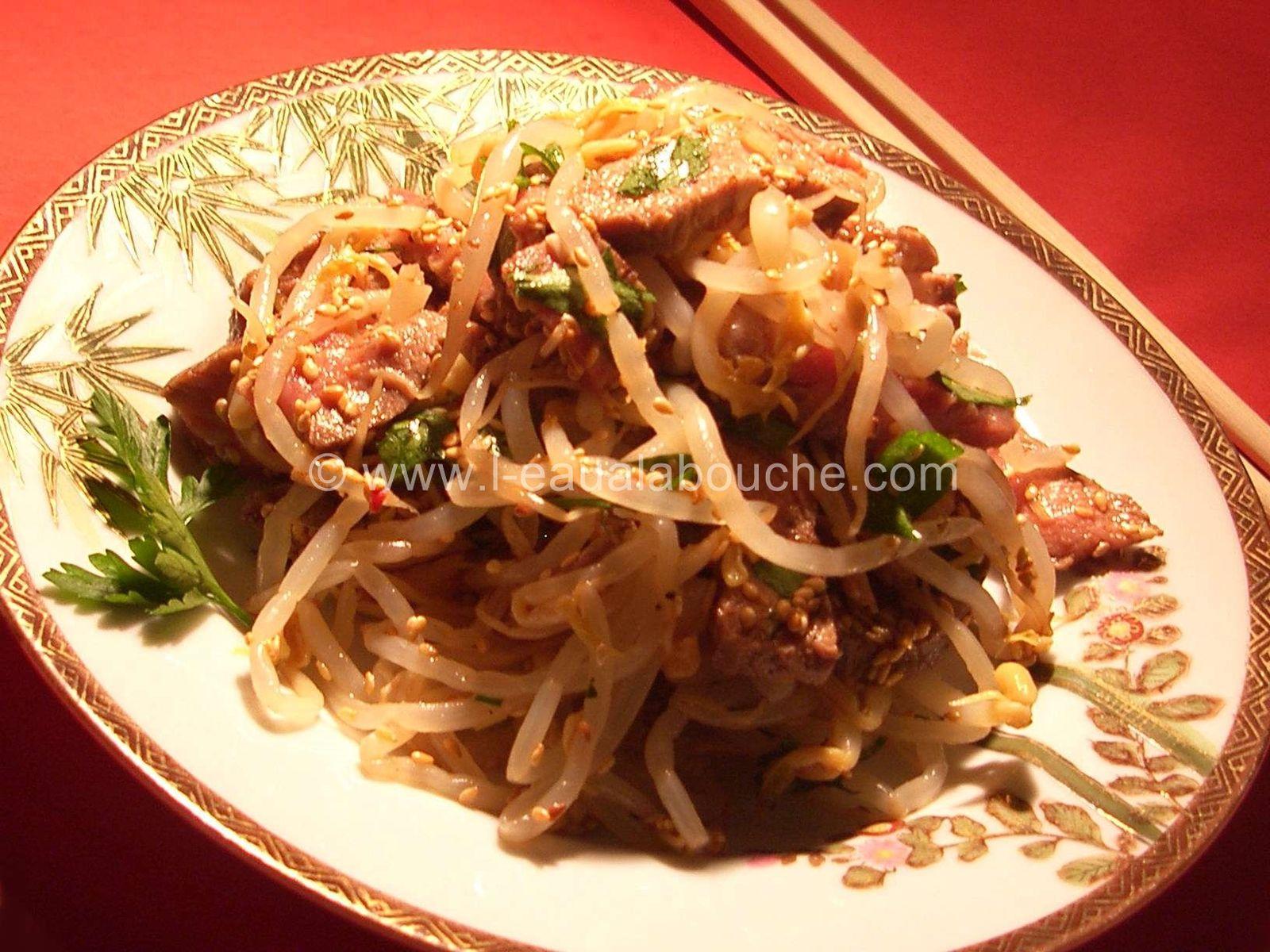 Salade de Boeuf Epicée aux Haricots Mungo