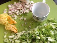 risotto aux pluches de fenouil et fleurs de courgettes