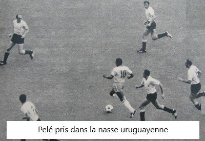 Coupe du Monde 1970 au Mexique, Demi-finales: Brésil - Uruguay