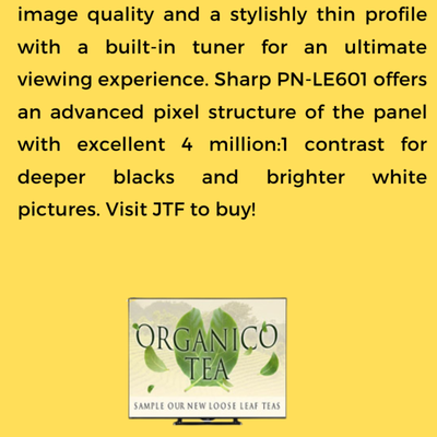 Sharp PN-LE601 Commercial LCD TV- Comes With HD Quality