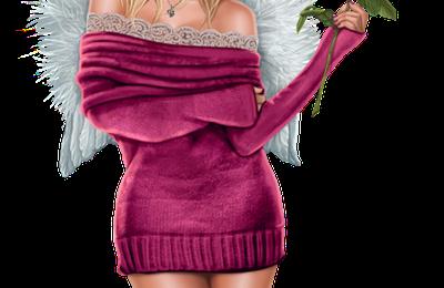 Femme - Blonde - Sexy - Angel - Render/Tube - Gratuit