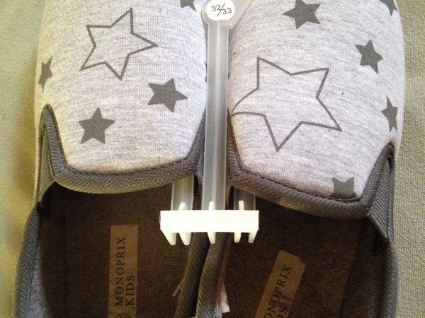chaussons gris étoiles pour enfant mode sur charlotteblabla blog