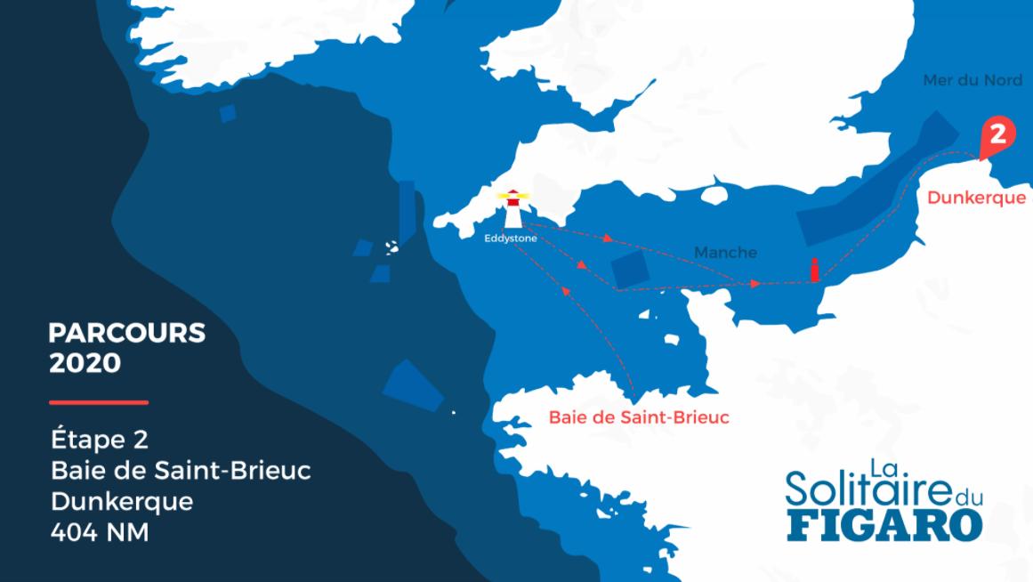 Armel Le Cléac'h remporte la deuxième étape de la Solitaire du Figaro 2020