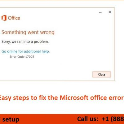 Easy steps to fix the Microsoft office error 17002