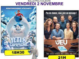 Cinéma de pays le 02 novembre séance de 21 h