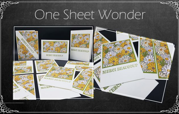 Créer 11 cartes en peu de temps : One Sheet Wonder