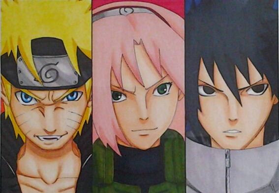 Team 7 Naruto Sakura Sasuke