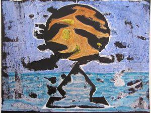 Jacqueline Putatti 2010 - Idées de peintures 75.1 et 75.2 - Premiers jours - Acryliques sur papier 50 x 65cm