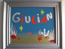 Peinture Prénom Giulian