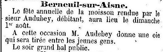 Album - le village de Berneuil-sur-Aisne , au cours des mois des années 1800 et 1900